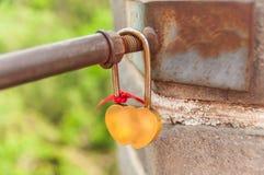 Κλειδαριές και εραστής στο Σινικό Τείχος Στοκ Εικόνες