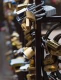 Κλειδαριές σε Ponte Vecchio, Φλωρεντία, Ιταλία Στοκ Εικόνες