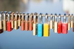 Κλειδαριές της αγάπης Στοκ Εικόνα