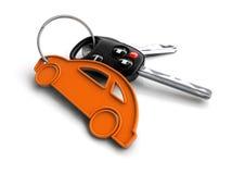 Κλειδιά αυτοκινήτων με το μπρελόκ εικονιδίων αυτοκινήτων Έννοια για την ιδιοκτησία αυτοκινήτων ελεύθερη απεικόνιση δικαιώματος