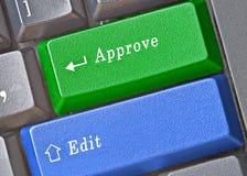 Κλειδιά για την έκδοση και την έγκριση Στοκ εικόνα με δικαίωμα ελεύθερης χρήσης