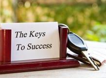 Κλειδιά για την επιτυχία Στοκ εικόνα με δικαίωμα ελεύθερης χρήσης