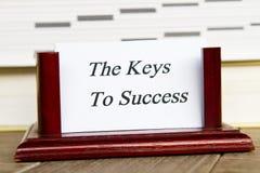 Κλειδιά για την επιτυχία Στοκ Φωτογραφίες