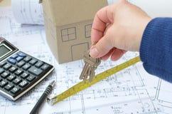 Κλειδιά για το νέο σπίτι Στοκ Εικόνα