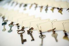 Κλειδιά με τις κενές ετικέττες Στοκ Φωτογραφίες