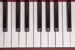 Κλειδιά πιάνων, κινηματογράφηση σε πρώτο πλάνο Στοκ εικόνα με δικαίωμα ελεύθερης χρήσης