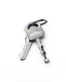 Κλειδιά πορτών που απομονώνονται Στοκ Εικόνα