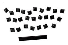 Κλειδιά πληκτρολογίων Qwerty Στοκ φωτογραφία με δικαίωμα ελεύθερης χρήσης