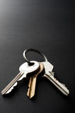 Κλειδιά στο Μαύρο Στοκ Εικόνες