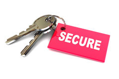 Κλειδιά της ασφάλειας Στοκ φωτογραφίες με δικαίωμα ελεύθερης χρήσης
