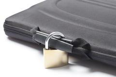 Κλειδωμένη τσάντα με ένα λουκέτο Στοκ Εικόνες