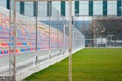 Κλειδωμένος αγωνιστικός χώρος ποδοσφαίρου στοκ εικόνες