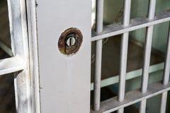 Κλειδωμένο κύτταρο φυλακών Στοκ Φωτογραφία
