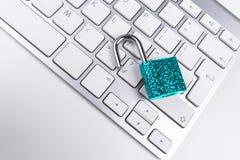 Κλειδωμένο χρηματοκιβώτιο υπολογιστών από τον ιό ή malware την επίθεση Φορητός προσωπικός υπολογιστής που προστατεύεται από το σε Στοκ εικόνες με δικαίωμα ελεύθερης χρήσης
