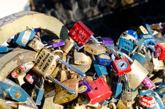 Κλειδώματα της αγάπης Στοκ Εικόνες