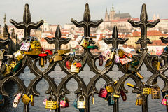 Κλειδώματα της αγάπης Στοκ Φωτογραφίες