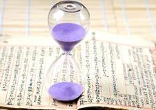 Κλεψύδρα, sandglass, χρονόμετρο άμμου, ρολόι άμμου Στοκ Εικόνα