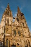 κληρονομιά της Γερμανίας καθεδρικών ναών της Βαυαρίας παλαιά πόλης κόσμος περιοχών του Ρέγκενσμπουργκ stadtamhof Στοκ εικόνα με δικαίωμα ελεύθερης χρήσης