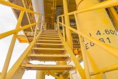 Κλιμακοστάσιο για τη διαδικασία παραγωγής πετρελαίου και φυσικού αερίου Στοκ φωτογραφίες με δικαίωμα ελεύθερης χρήσης