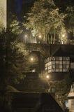Κλιμακοστάσιο τη νύχτα, Monschau Στοκ εικόνες με δικαίωμα ελεύθερης χρήσης