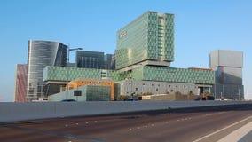 Κλινική του Κλίβελαντ στο Αμπού Ντάμπι, νησί Al Maryah, Ηνωμένα Αραβικά Εμιράτα απόθεμα βίντεο
