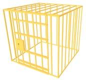 κλουβί χρυσό Στοκ εικόνες με δικαίωμα ελεύθερης χρήσης
