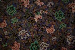 Κλωστοϋφαντουργικό προϊόν υφάσματος με τα λουλούδια Floral ασιατικό υπόβαθρο Στοκ Φωτογραφία