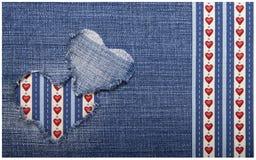 Κλωστοϋφαντουργικό προϊόν applique για την ημέρα του βαλεντίνου Στοκ φωτογραφίες με δικαίωμα ελεύθερης χρήσης