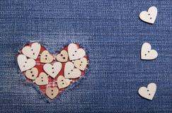Κλωστοϋφαντουργικό προϊόν applique για την ημέρα του βαλεντίνου Στοκ Φωτογραφίες