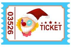 Κλόουν τσίρκων εισιτηρίων Στοκ φωτογραφία με δικαίωμα ελεύθερης χρήσης