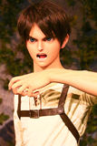 Κλώνος-oid-μην κλωνοποιήστε της Ellen jaeger από Shingeki κανένα Kyojin Στοκ Εικόνες