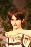 Κλώνος-oid-μην κλωνοποιήστε της Ellen jaeger από Shingeki κανένα Kyojin Στοκ Φωτογραφίες