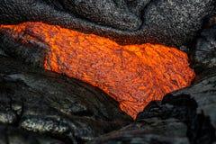 Λάβα στο μεγάλο νησί της Χαβάης ` s Στοκ Εικόνα