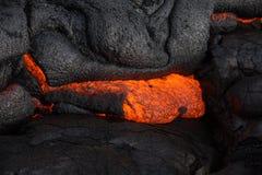 Λάβα στο μεγάλο νησί της Χαβάης ` s Στοκ Φωτογραφίες