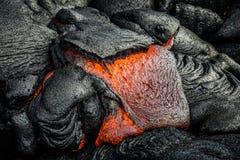 Λάβα στο μεγάλο νησί της Χαβάης ` s Στοκ Εικόνες