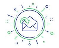 Λάβετε το ταχυδρομείο μεταφορτώνει το εικονίδιο γραμμών Εισερχόμενο σημάδι αλληλογραφίας μηνυμάτων r διανυσματική απεικόνιση