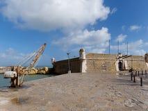 ΛΆΓΚΟΣ, ALGARVE/PORTUGAL - 5 ΜΑΡΤΊΟΥ: Οχυρό Ponta DA Bandeira στο Λα στοκ φωτογραφία με δικαίωμα ελεύθερης χρήσης