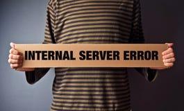 Λάθος 500, έννοια HTTP σελίδων λάθους κεντρικών υπολογιστών Στοκ φωτογραφία με δικαίωμα ελεύθερης χρήσης