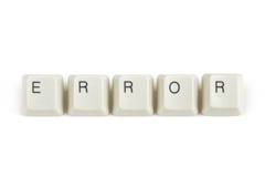 Λάθος από τα διεσπαρμένα κλειδιά πληκτρολογίων στο λευκό Στοκ φωτογραφία με δικαίωμα ελεύθερης χρήσης