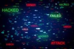 Λάθος και phishing έννοια στοκ εικόνες