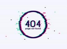 Λάθος με την επίδραση δυσλειτουργίας στην οθόνη Λάθος 404 σελίδα που δεν βρίσκεται Επίπεδη έννοια απεικόνισης σχεδίου σύγχρονη δι ελεύθερη απεικόνιση δικαιώματος