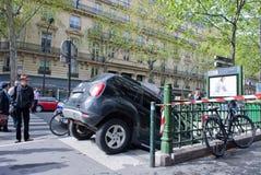 λάθος Παρίσι οδηγών Στοκ Εικόνες