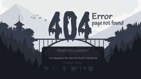 Λάθος 404 σελίδα που δεν βρίσκεται ελεύθερη απεικόνιση δικαιώματος
