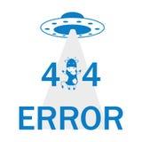 Λάθος 404 UFO και αγελάδα Στοκ Φωτογραφία