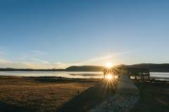 Λάκκα Afenourir Sunrinse κοντά σε Azrou, Ifrane, Μαρόκο Στοκ φωτογραφία με δικαίωμα ελεύθερης χρήσης