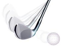 λάκτισμα γκολφ διανυσματική απεικόνιση