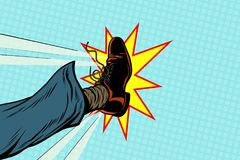 Λάκτισμα επιχειρηματιών, λαϊκό πόδι τέχνης ελεύθερη απεικόνιση δικαιώματος
