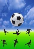 λάκτισμα ποδοσφαίρου Στοκ Φωτογραφίες