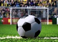 Λάκτισμα ποινικής ρήτρας ποδοσφαίρου Στοκ Φωτογραφία