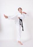 Λάκτισμα Taekwondo Στοκ Εικόνες